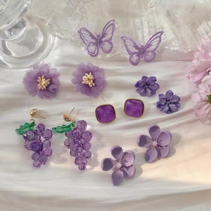 Purple Collection Design Earrings