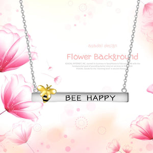 S925 sterling silver bee design collarbone necklace