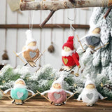 Christmas Decorations - Pompom Skiing Snowman Doll Pendant