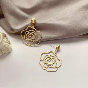 Rose shape  Design Drop Earrings