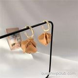 Flower Petal Design Drop Earrings