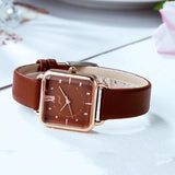 Retro square fashion simple waterproof quartz watch