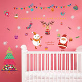 Christmas Dress Up - Glass Background Wall Stickers