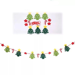 Merry Christmas Decorations Stars Christmas Tree - Pull Flag