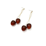 Cherry shape drop earrings