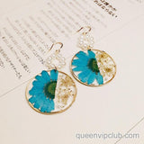 Flower Dry Design Handmade Earrings