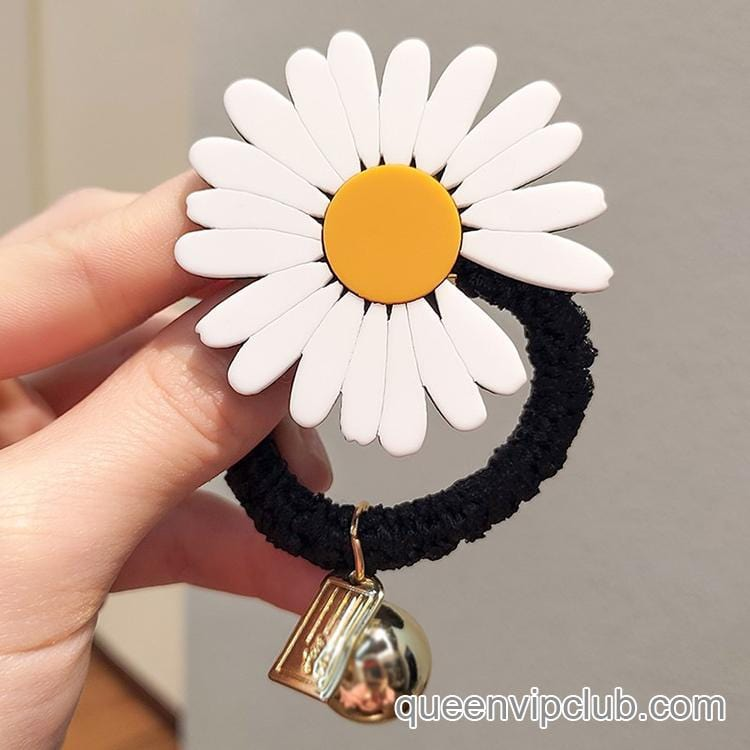 Daisy flower hair accessories hair ring