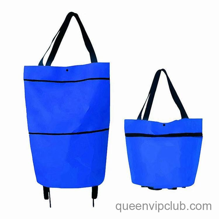 Home Folding Pull-out Telescopic Tug Shopping Bag