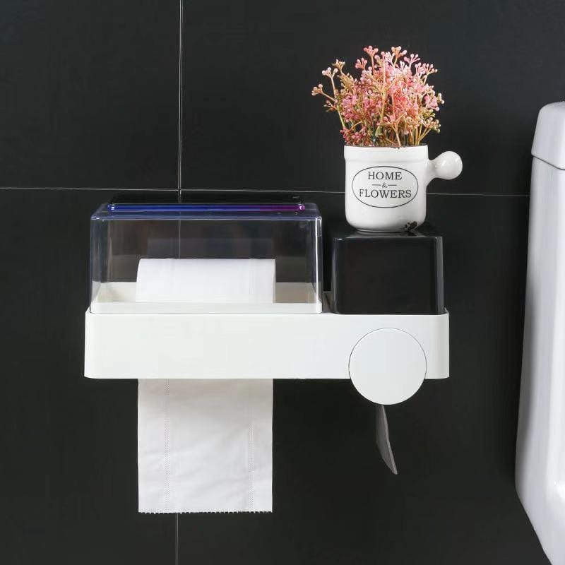 Wall sticker tissue multifunctional storage box