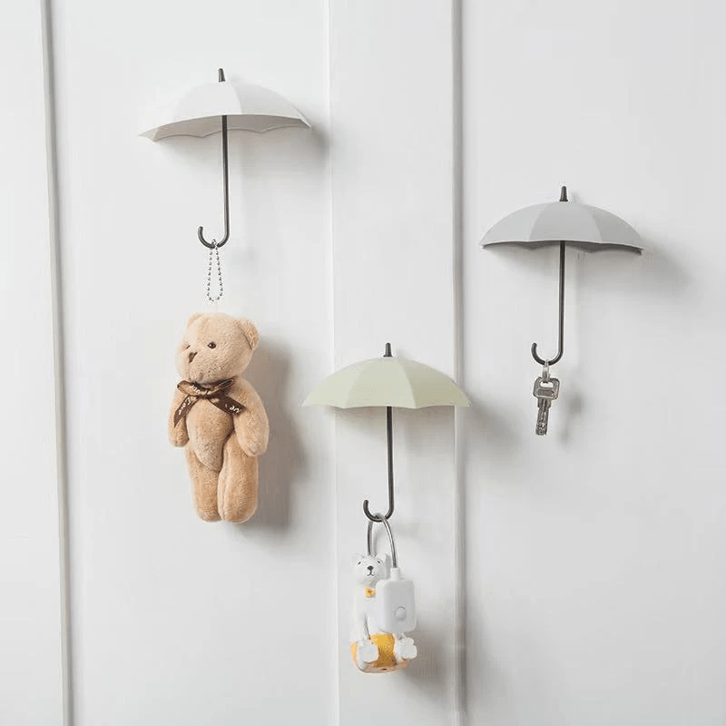 Cute Little Umbrella Strongly Sticks to Wall Hooks