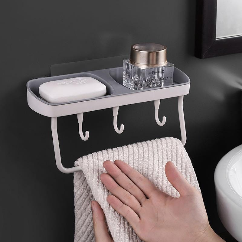 Multifunctional wall-mounted soap rack