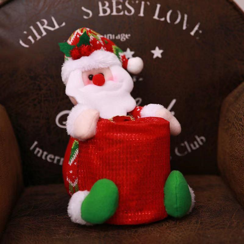 Christmas Home Supplies - Tissue Box, Roll Tray