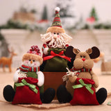 Christmas decorations - doll three-dimensional sitting gift candy bag