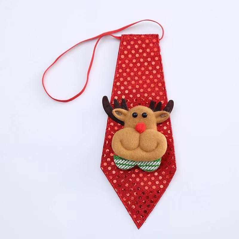 Christmas decorations - Christmas sequins tie bow tie