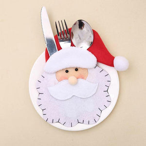 Merry Christmas Decoration - Santa Cutlery Set