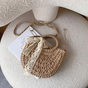 Holiday style woven bag