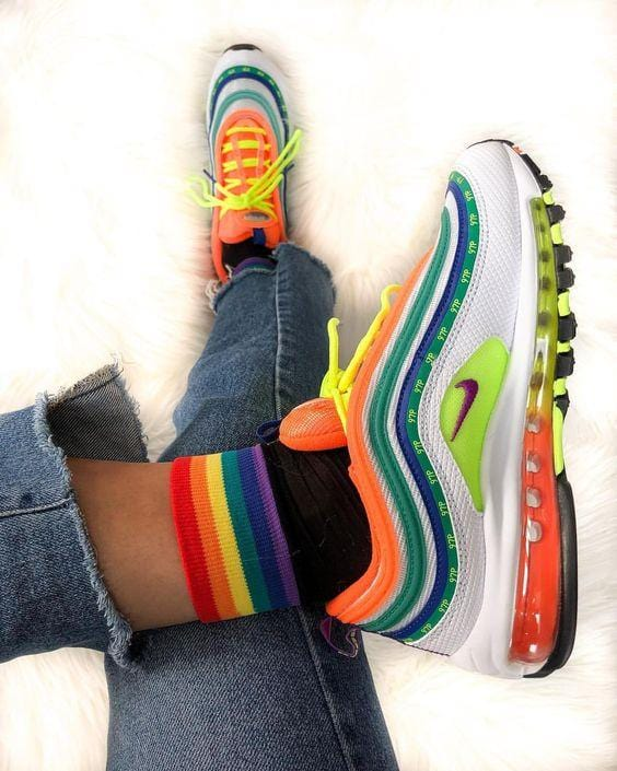 Wavy Air Cushion Colorful Sneakers
