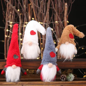 Merry Christmas Decoration - Christmas Doll - 2-piece set