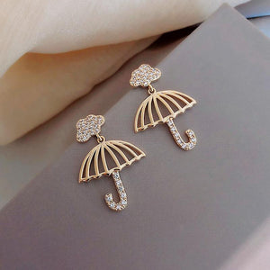 Bling umbrella design earrings
