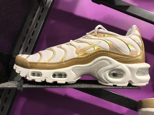 Air Cushion Golden White Sneaker