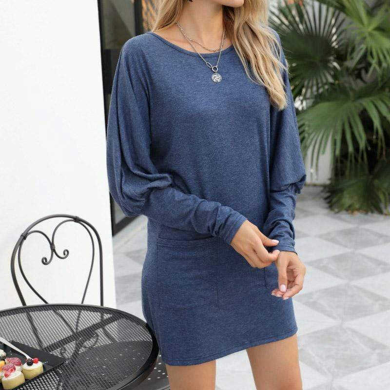 Round neck pullover long sleeve women's clothing