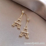 Tower design earrings