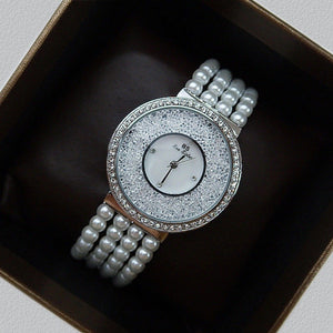 Pearl strap luminous dial fashion watch ladies watch
