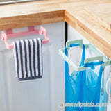 Kitchen Door Handle Trash Bag Holder