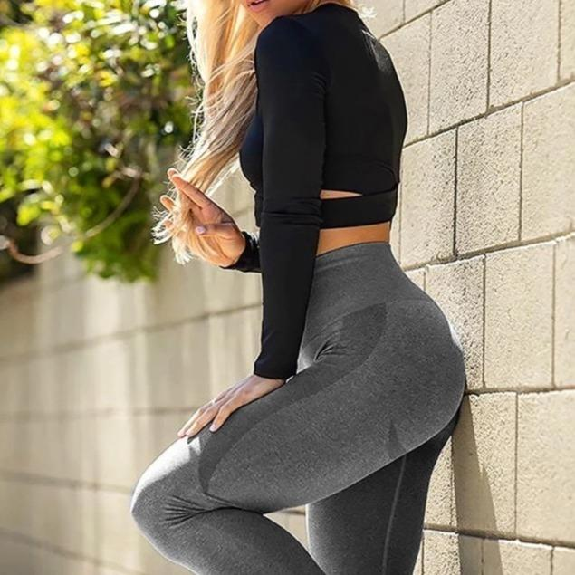 Stretchy Gym Tights Seamless High Waist Pants