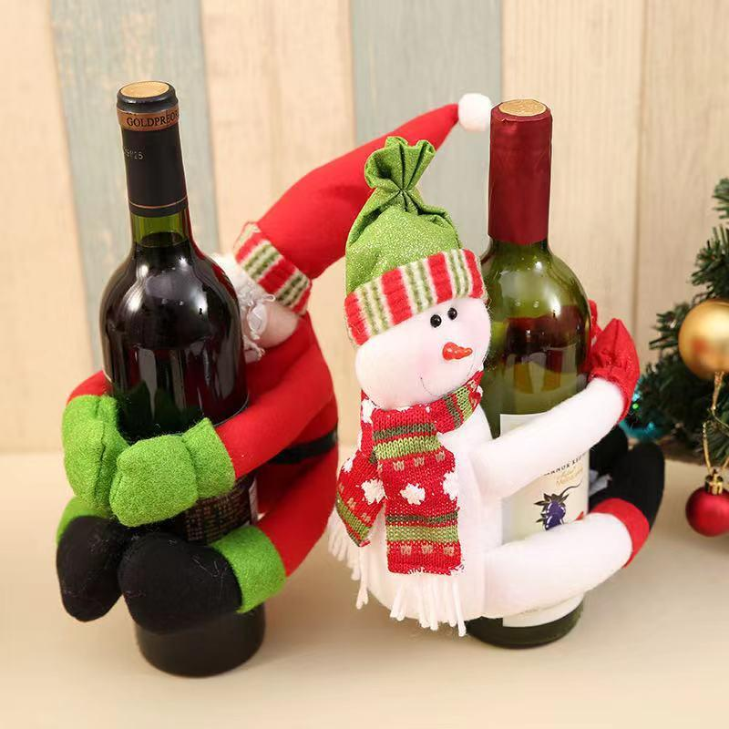 Merry Christmas Home Dressing Supplies - Wine Bottle Dolls