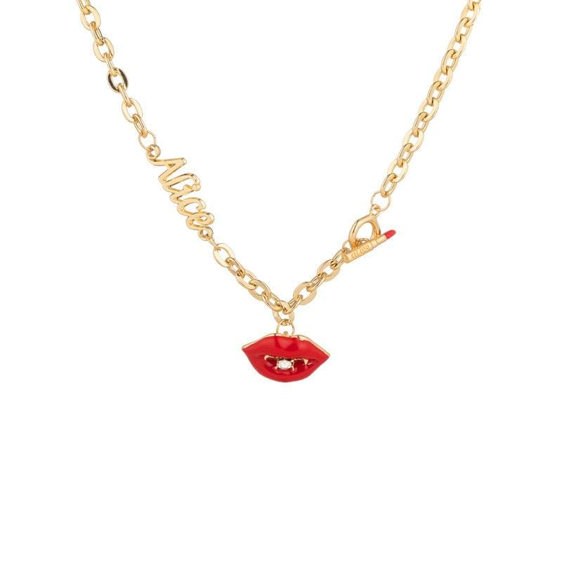 Lip Pendant Necklace 925 Silver
