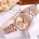 Temperament diamond waterproof quartz watch