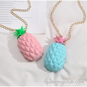 Fruit pineapple shape design mini bag