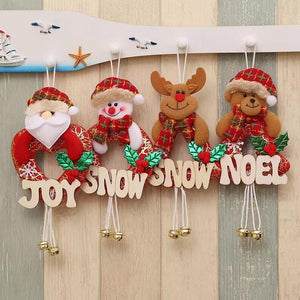3 PCS Christmas Decorations - Bell Doll Pendant