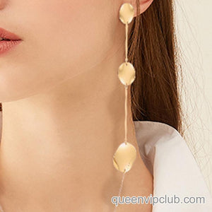 14k Dipped Drop Earrings