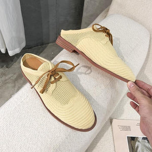 Knit Leisure Flat Shoes