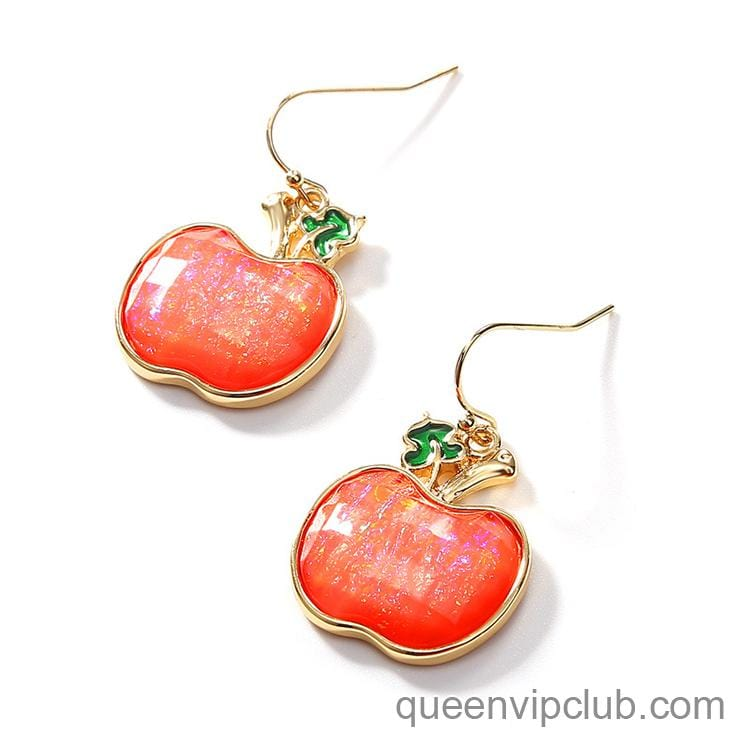 14k Apple shape design drop earrings