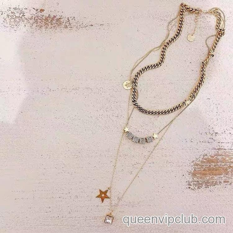 1pc Star Charm Layered Necklace