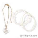 1pc pearl design charm layered anklet
