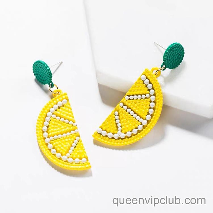1pc Cute novel fruit shape earrings