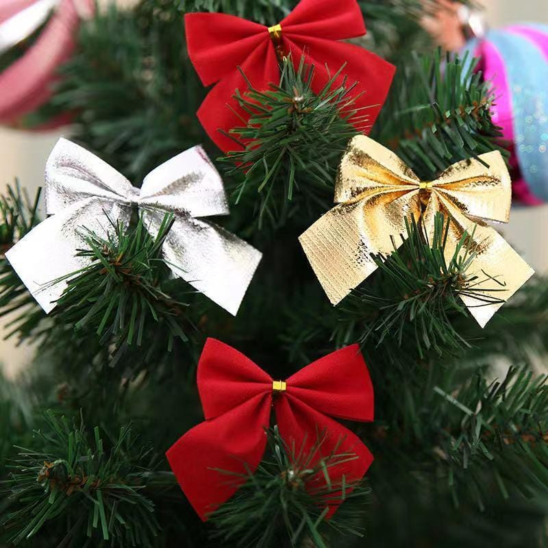 Christmas Decorations - Bows-12-pack Christmas Tree Decor