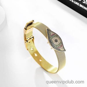 Micro-inlaid rhinestone novel pattern design bracelet