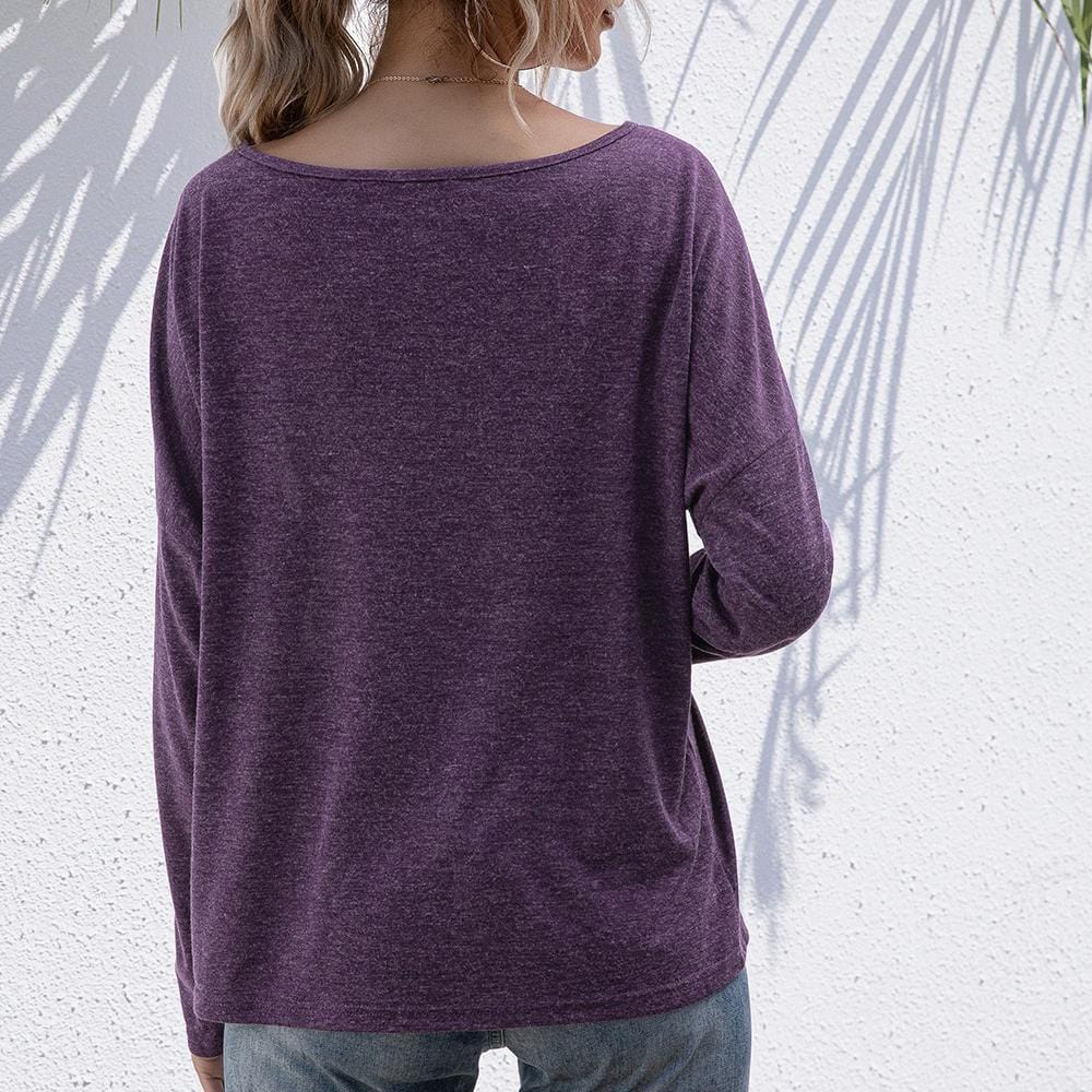 Round neck long sleeve bottoming T-shirt