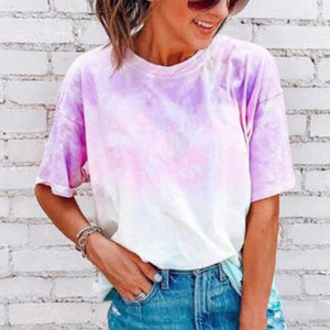 Tie-Dye Casual Loose T-Shirt