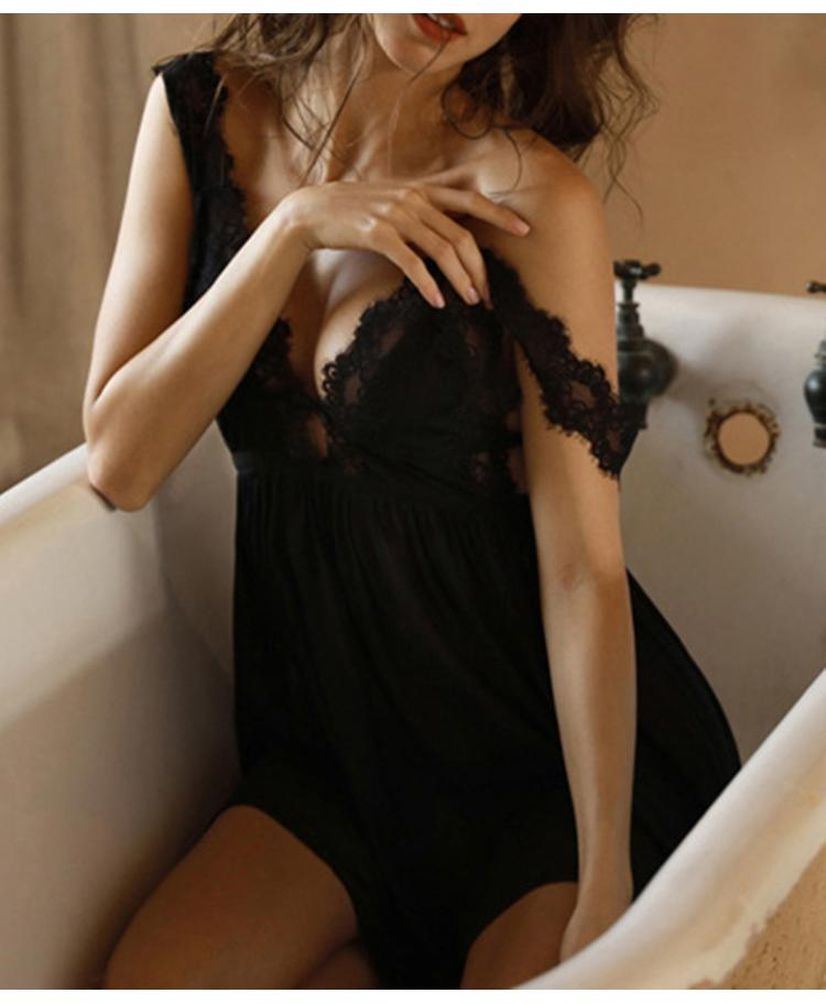 V-Neck Sexy Nightdress Lace Pajamas