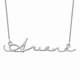 925 Sterling Silver Signature Style Name Necklace Nameplate Necklace