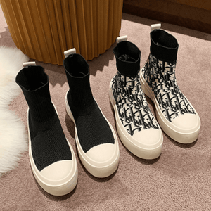 Chic Knit Stretchy Shoes【size 5-9】