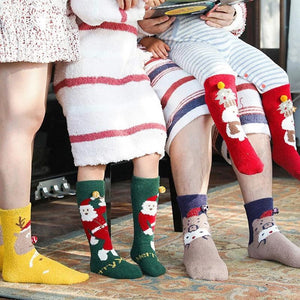 4PCS Warm Christmas Stockings (with gift box and handbag)