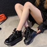 Patent Leather High Tops Sneakers【size 5-9】