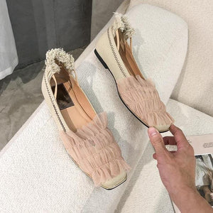 Fairy Tassel Low-heel Shoes